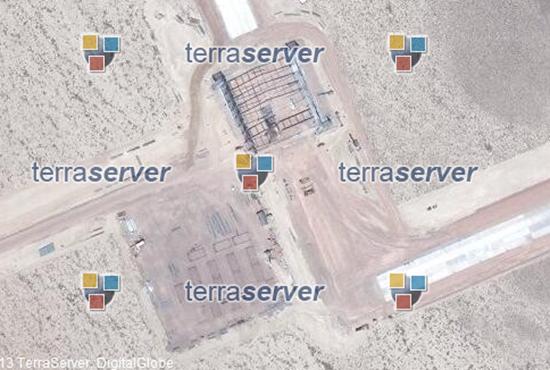 This huge hanger showed up in Area 51 in 2014