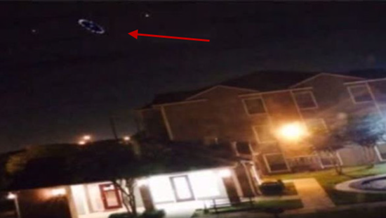 UFO over Houston - ring of lights spotted by several Houston residents