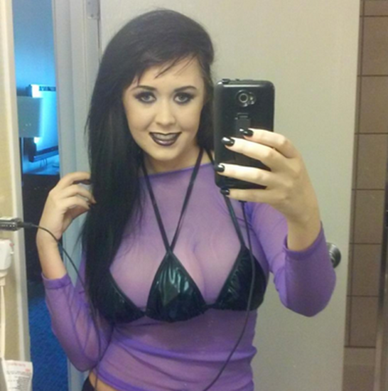 Woman (Jasmine Tridevil) has third breast implanted between her two natural breasts