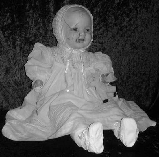 Mandy the haunted porcelain doll