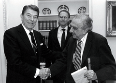 President Ronald Reagan and Edward Teller, father of the hydrogen bomb and Strategic Defense Initiative advocate