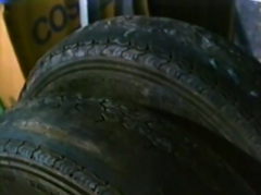 Unusually worn tires on Keith Bowden's Land Rover were not the tires that were normally fitted on the car