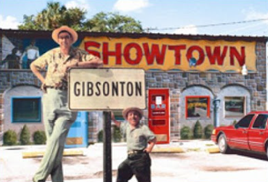 An 8 foot tall fire chief and dwarf police chief in Gibsonton (Gibtown), Florida