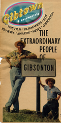Movie flyer for Gibtown - the extraordinary people of Gisonton, Florida (Showtown or Freaktown USA)