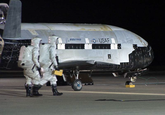X-37B after landing on a previous mission