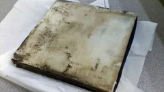 """Mysterious """"tile"""" that fell from space and landed near a group of New Jersey workers"""
