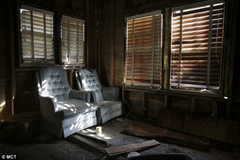 Inside the abandoned home where one victim's body was found