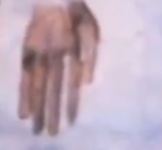 Boyd Bushman photo of the alien's long, thin fingers