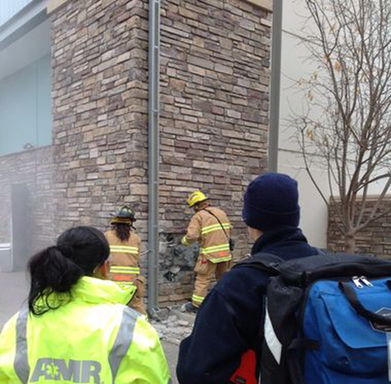 Firefighters tear down exterion wall to reach Colorado man who was trapped inside Marshall's store walls for up to three days