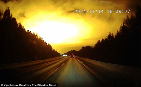 Gigantic flash of light over Russia turns night into day