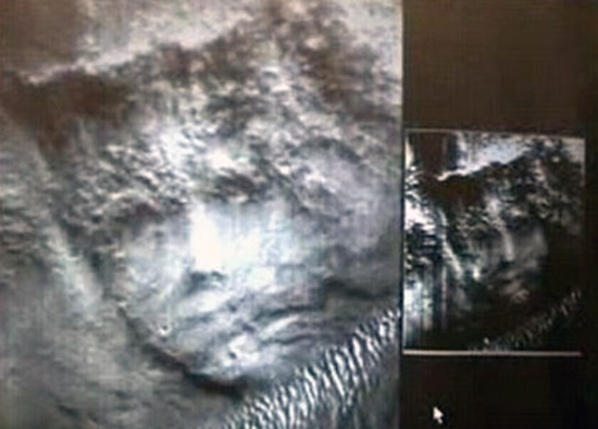 Unusual crowned face found on surface of Mars