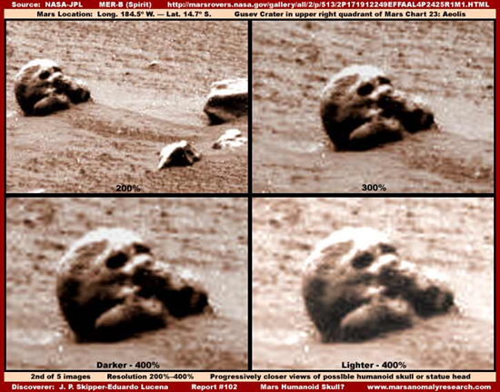 Human or alien skull found on Mars