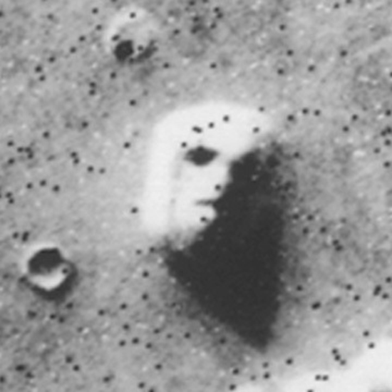 The famous 1976 Face on Mars
