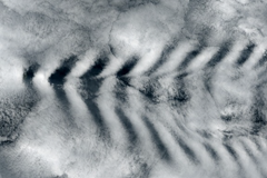 Wave clouds created by volcanic eruption on November 2, 2014
