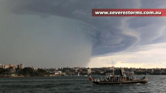 Freak storm hits Sydney, Australia