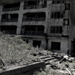 Collapsing structures on abandoned Hashima Island