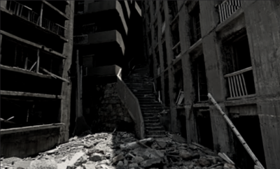 """The """"Stairway to Hell"""" in abandoned Hashima Island"""