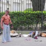 Homeless bodybuilder Sayagh Jacques