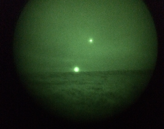 UFO orbs above New Mexico military base - December 2014