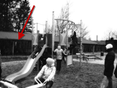 Photo reportedly of Slender Man in the background