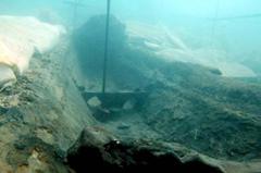 Shipwreck where cache of orichalcum ingots were found