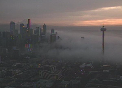 Mysterious dense fog that rolled into Seattle spreading stinky smell throughout the city