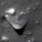 Triangle-shaped UFO object located in the Moon thumb