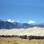 Among the photos was this picture of what appears to be White Sands, New Mexico
