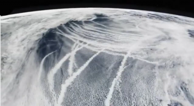 A chemtrail pattern as seen from space