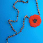 The rosary found nailed to the tunnel wall
