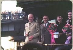 Closeup photo of President Dwight Eisenhower found in the batch of old Kodak slides