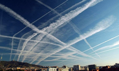 Chemtrails often form a crosshatch pattern