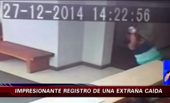 Woman in Santiago, Chile claims she was violently shoved down by a ghost