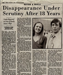 Rober Durst newspaper headline - Disappearance under scrutiny after 18 years