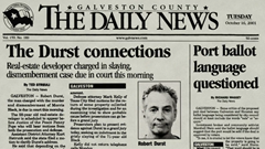 Robert Durst newspaper headline - The Durst connections