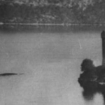 Bank manager Peter MacNab snapped a photo of something large moving through the water of the loch near Urquhart Castle in July 1955
