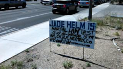 Jade Help 15 protest sign