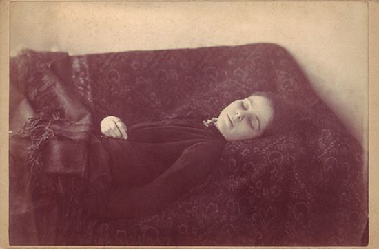 The only surviving image of deceased Loana the Bloodthirster who died, purported from drinking her own blood – 1909.