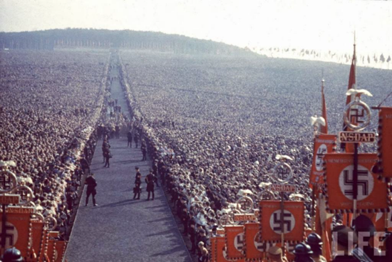 The Reichserntedankfest (Thanksgiving Celebration of the Reich) in Buckeberg, Germany.  700,000 people participated in the event – 1934.