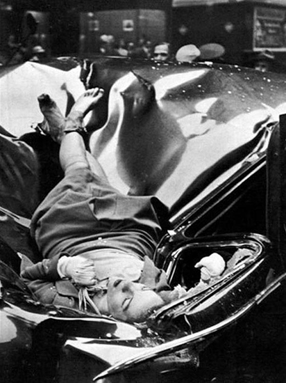 23-year-old Evelyn McHale jumped to her death from the 83rd floor of the Empire State Building – 1947.