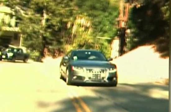 LA police look for reverse driver who (expertly) drove Mulholland thru Hollywood strip backward
