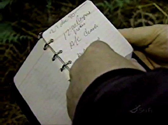 Rendlesham Forest UFO - Sketches and diagrams from Sergeant Jim Penniston's notebook