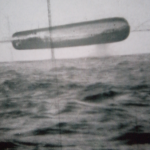 Submarine USS Trepang UFO photo - UFO flying above Arctic ocean thumb