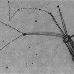 The original drawing of Zeta Reticuli by Betty Hill (the Star Map)