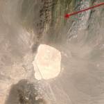 Arrow points to Groom Lake Mine, just north of Groom Lake and Area 51