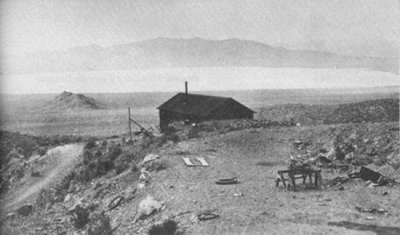 Early photo of Groom Lake Mine