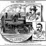 Early newspaper illustration covering the Holmes murder of Pitezel