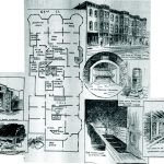 Illustration showing the layout of H. H. Holmes Murder Castle