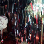 Nearly 4,000 bladed weapons, skulls, severed arms and hands were found in Dykema's home