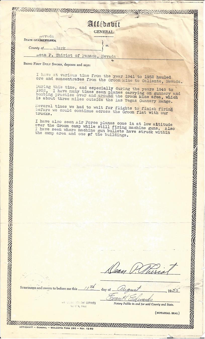 Sheahan Groom Lake Mine legal document